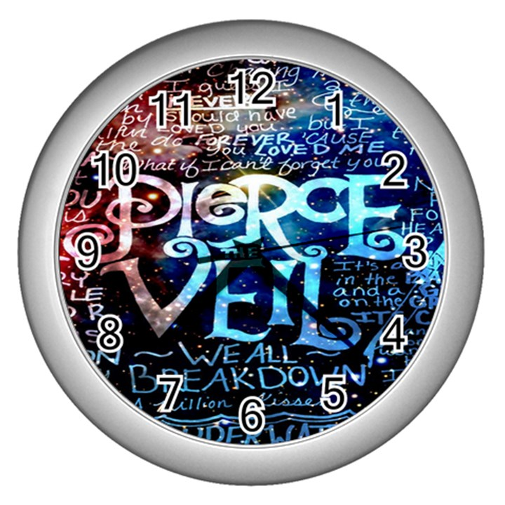 Pierce The Veil Quote Galaxy Nebula Wall Clocks (Silver)