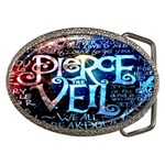 Pierce The Veil Quote Galaxy Nebula Belt Buckles Front