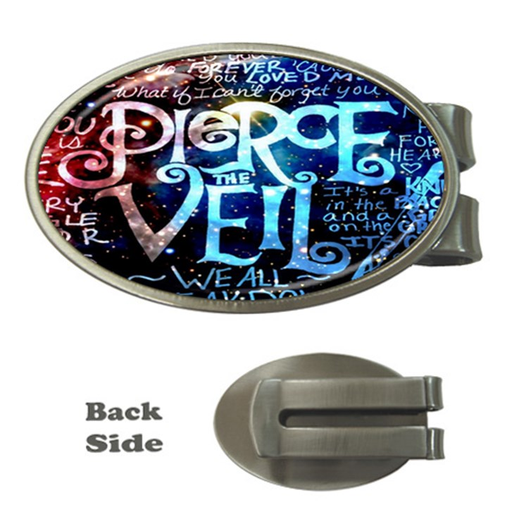 Pierce The Veil Quote Galaxy Nebula Money Clips (Oval)