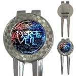 Pierce The Veil Quote Galaxy Nebula 3-in-1 Golf Divots Front