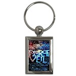 Pierce The Veil Quote Galaxy Nebula Key Chains (Rectangle)  Front