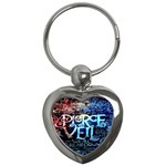 Pierce The Veil Quote Galaxy Nebula Key Chains (Heart)  Front