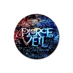 Pierce The Veil Quote Galaxy Nebula Rubber Round Coaster (4 pack)  Front