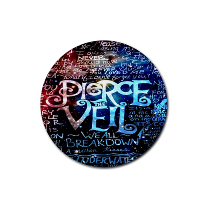 Pierce The Veil Quote Galaxy Nebula Rubber Round Coaster (4 pack)