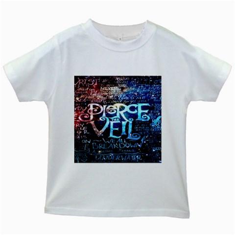 Pierce The Veil Quote Galaxy Nebula Kids White T-Shirts