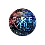Pierce The Veil Quote Galaxy Nebula Magnet 3  (Round) Front