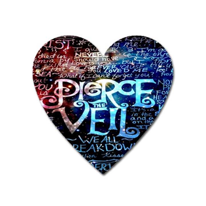 Pierce The Veil Quote Galaxy Nebula Heart Magnet
