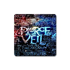 Pierce The Veil Quote Galaxy Nebula Square Magnet