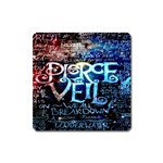 Pierce The Veil Quote Galaxy Nebula Square Magnet Front