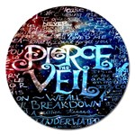 Pierce The Veil Quote Galaxy Nebula Magnet 5  (Round) Front