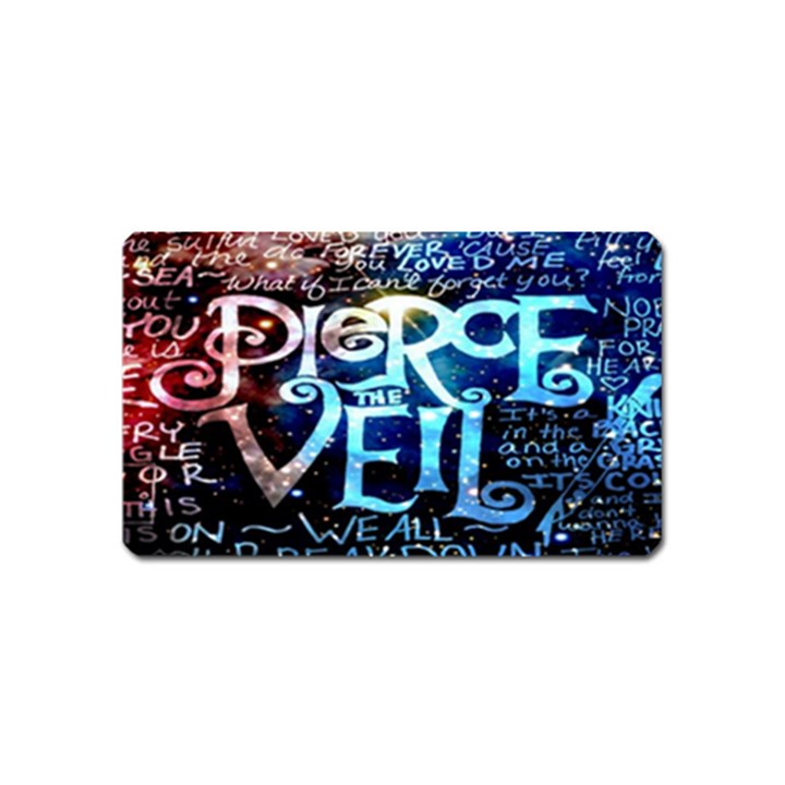 Pierce The Veil Quote Galaxy Nebula Magnet (Name Card)
