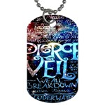 Pierce The Veil Quote Galaxy Nebula Dog Tag (One Side) Front