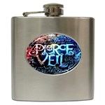 Pierce The Veil Quote Galaxy Nebula Hip Flask (6 oz) Front