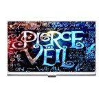 Pierce The Veil Quote Galaxy Nebula Business Card Holders Front