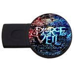 Pierce The Veil Quote Galaxy Nebula USB Flash Drive Round (2 GB)  Front
