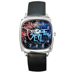 Pierce The Veil Quote Galaxy Nebula Square Metal Watch