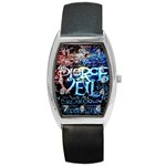Pierce The Veil Quote Galaxy Nebula Barrel Style Metal Watch Front