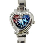 Pierce The Veil Quote Galaxy Nebula Heart Italian Charm Watch Front