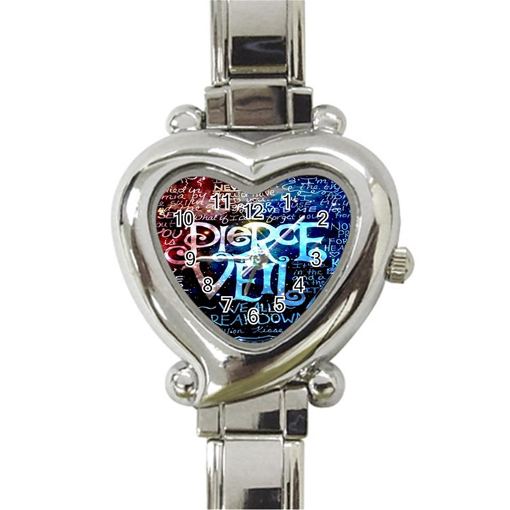 Pierce The Veil Quote Galaxy Nebula Heart Italian Charm Watch