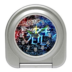 Pierce The Veil Quote Galaxy Nebula Travel Alarm Clocks