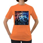 Pierce The Veil Quote Galaxy Nebula Women s Dark T-Shirt Front