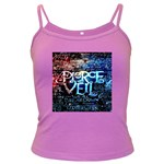 Pierce The Veil Quote Galaxy Nebula Dark Spaghetti Tank Front