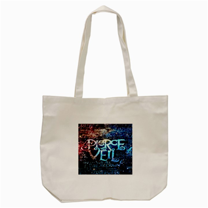 Pierce The Veil Quote Galaxy Nebula Tote Bag (Cream)