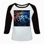 Pierce The Veil Quote Galaxy Nebula Kids Baseball Jerseys Front