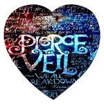 Pierce The Veil Quote Galaxy Nebula Jigsaw Puzzle (Heart) Front