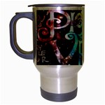 Pierce The Veil Quote Galaxy Nebula Travel Mug (Silver Gray) Left