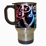 Pierce The Veil Quote Galaxy Nebula Travel Mugs (White) Left