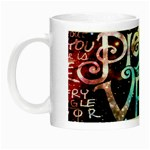 Pierce The Veil Quote Galaxy Nebula Night Luminous Mugs Left