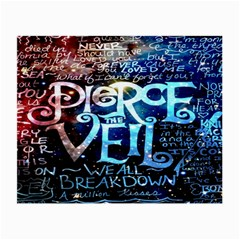 Pierce The Veil Quote Galaxy Nebula Small Glasses Cloth