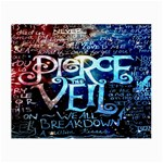 Pierce The Veil Quote Galaxy Nebula Small Glasses Cloth Front