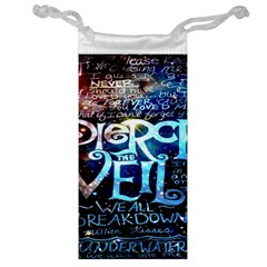 Pierce The Veil Quote Galaxy Nebula Jewelry Bags