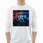 Pierce The Veil Quote Galaxy Nebula White Long Sleeve T-Shirts Front
