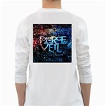 Pierce The Veil Quote Galaxy Nebula White Long Sleeve T-Shirts Back
