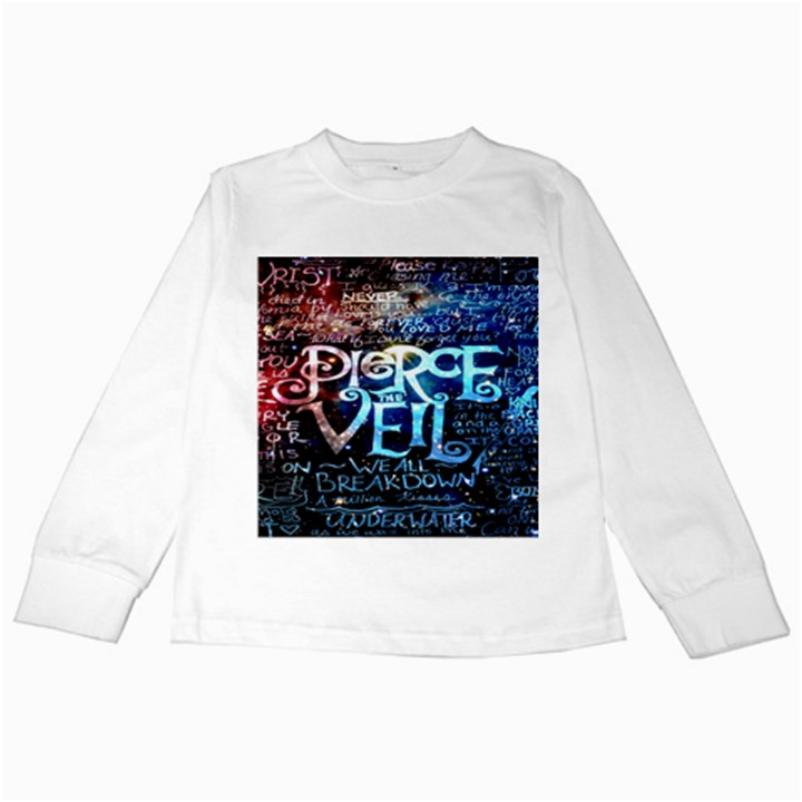 Pierce The Veil Quote Galaxy Nebula Kids Long Sleeve T-Shirts