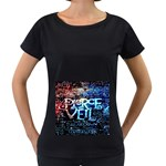 Pierce The Veil Quote Galaxy Nebula Women s Loose-Fit T-Shirt (Black) Front