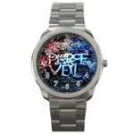 Pierce The Veil Quote Galaxy Nebula Sport Metal Watch Front