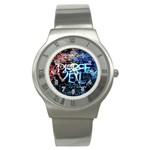 Pierce The Veil Quote Galaxy Nebula Stainless Steel Watch Front