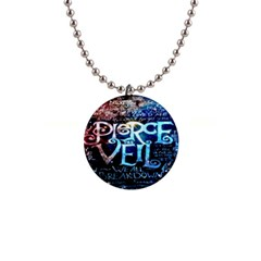 Pierce The Veil Quote Galaxy Nebula Button Necklaces