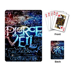 Pierce The Veil Quote Galaxy Nebula Playing Card