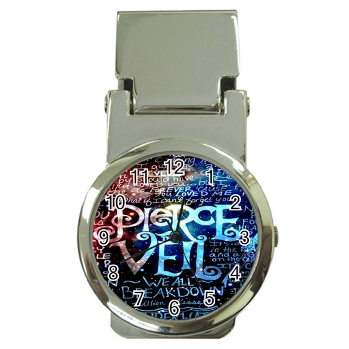 Pierce The Veil Quote Galaxy Nebula Money Clip Watches