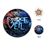 Pierce The Veil Quote Galaxy Nebula Playing Cards (Round)  Front