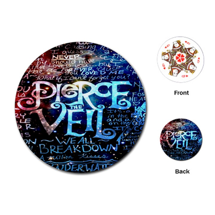 Pierce The Veil Quote Galaxy Nebula Playing Cards (Round)