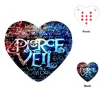 Pierce The Veil Quote Galaxy Nebula Playing Cards (Heart)  Front