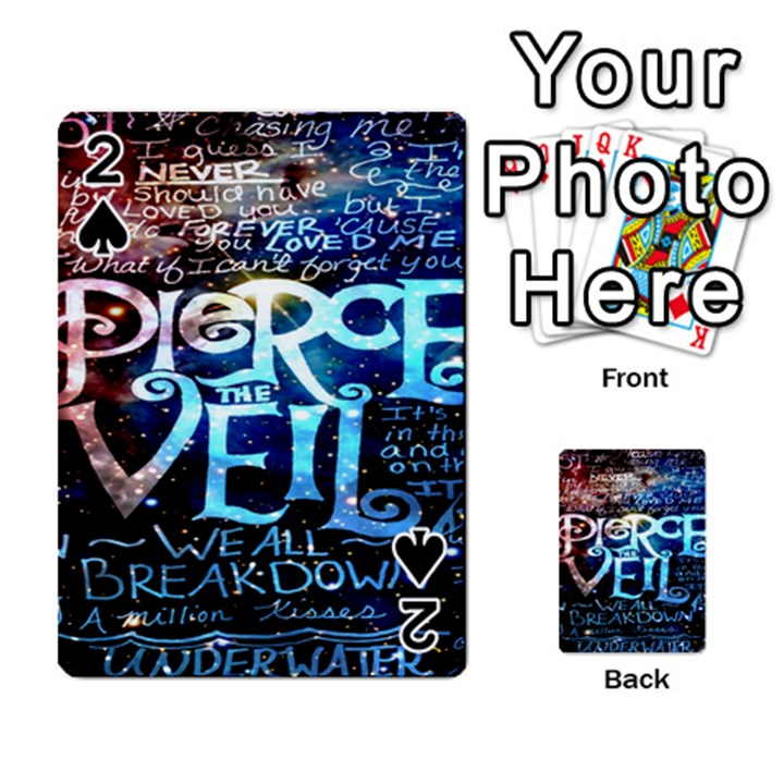Pierce The Veil Quote Galaxy Nebula Playing Cards 54 Designs