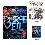 Pierce The Veil Quote Galaxy Nebula Playing Cards 54 Designs  Front - HeartA