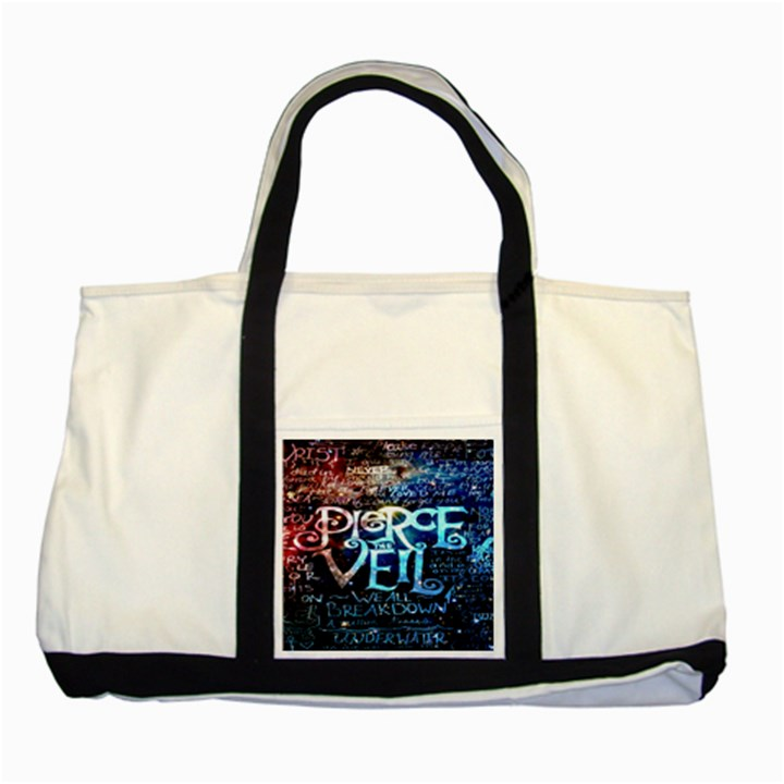 Pierce The Veil Quote Galaxy Nebula Two Tone Tote Bag